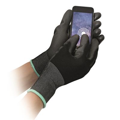 Nylonkäsine kosketusnäyttö musta S