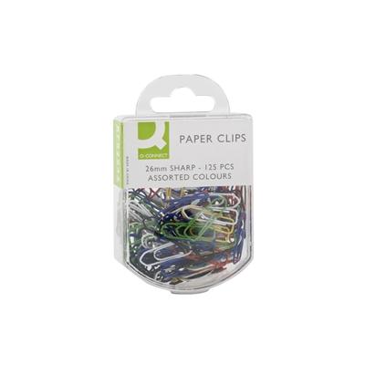 Paperiliitin Q-Connect 26 mm värillinen/125