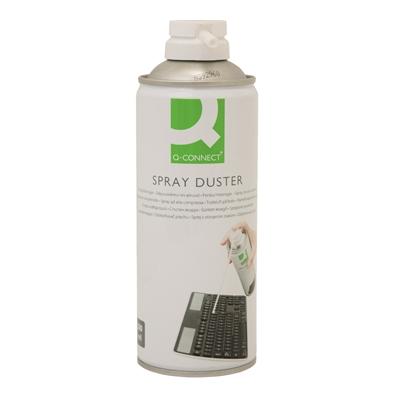 Puhdistusspray Q-Connect 300ml palamaton - HFC-vapaa paineilma ei kuormita otsonikerrosta