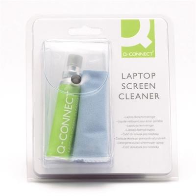 Puhdistussetti Q-Connect näyttö/näppäimistö - sis. mikrokuituliina ja puhdistussuihkeen 25 ml