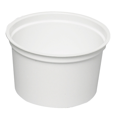 Näytepurkki 5080 200/235 ml valkoinen /50 kpl - saatavana myös kansi