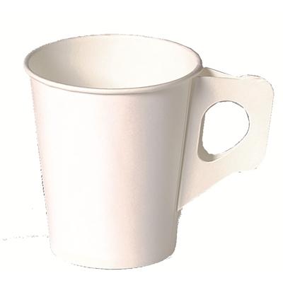 Kahvikuppi valkoinen korvallinen 17.5 cl/80