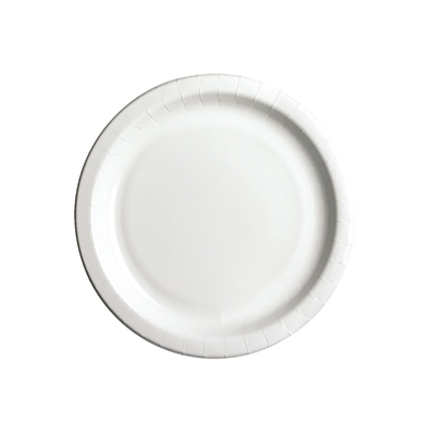 Kartonkilautanen 22 cm biohajoava valkoinen /50 kpl