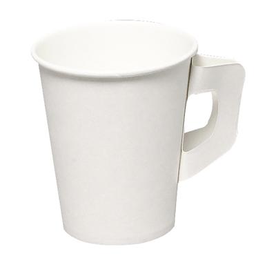 Kahvikuppi Gastro-Line 180/210ml korvallinen valkoinen /50 kpl - täysin biohajoava ja kompostuituva