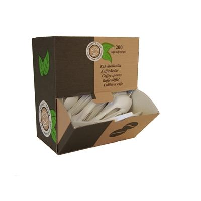 Kahvilusikka Coffee-to-go muovi dispenser-pakkaus valk/200