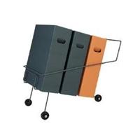 Lajitteluroskakoriteline / lajitteluvaunu Collector 3-osainen
