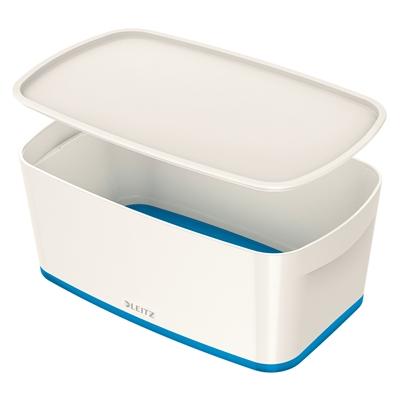 Säilytyslaatikko kannella Leitz MyBox koko S  valkoinen/sin