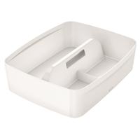 Säilytyslokerikko kahvalla Leitz MyBox koko L valkoinen