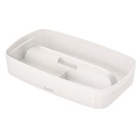 Säilytyslokerikko kahvalla Leitz MyBox koko S valkoinen