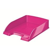Lomakelaatikko Leitz Plus WOW A4 pinkki - kierrätysmuovia
