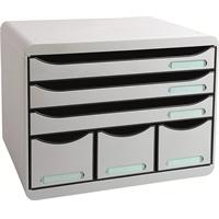 Laatikosto Exacompta Store-Box 6-osainen harmaa