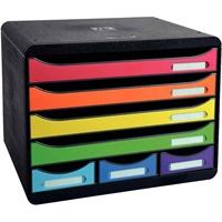 Laatikosto Exacompta Store-Box 7-osainen monivärinen