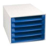 Laatikosto Box 5-osainen harmaa/sininen