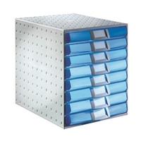 Laatikosto System 8-osainen harmaa/sininen