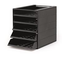 Laatikosto Idealbox  Basic 5-osainen musta - 80 % kierrätysmateriaalia