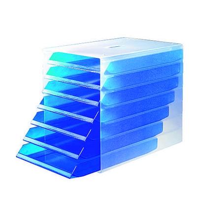 Laatikosto Idealbox 7-osainen läpinäkyvä sininen