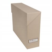 Arkistolaatikko Bigso Lovisa natural 33x9,5x24 cm - uusiutuvista kierrätettävistä materiaaleista