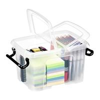 Säilytyslaatikko Strata kannella 6l läpinäkyvä - 100% kierrätettävää polypropeenia