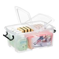 Säilytyslaatikko Strata kannella 12l läpinäkyvä - 100% kierrätettävää polypropeenia