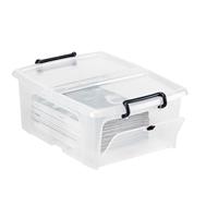 Säilytyslaatikko Strata kannella ja kurkistusluukulla 20l - 100% kierrätettävää polypropeenia