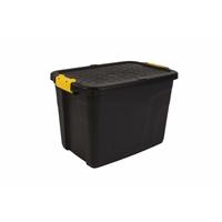 Varastolaatikko Strata Heavy Duty kannella 60l musta - 100% kierrätettävää polypropeenia