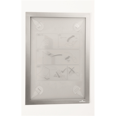 Infotasku / infokehys Duraframe Wallpaper A4 hopea - sopii aremmillekin pinnoille, esim. tapetille
