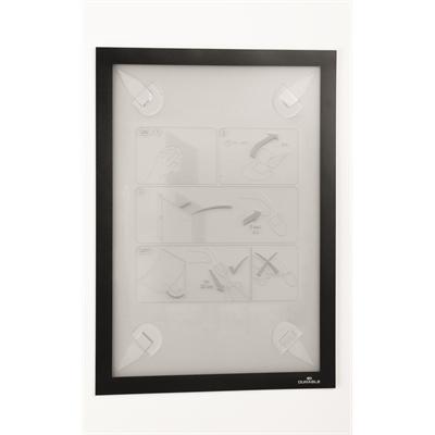 Infotasku / infokehys Duraframe Wallpaper A4 musta - sopii aremmillekin pinnoille, esim. tapetille
