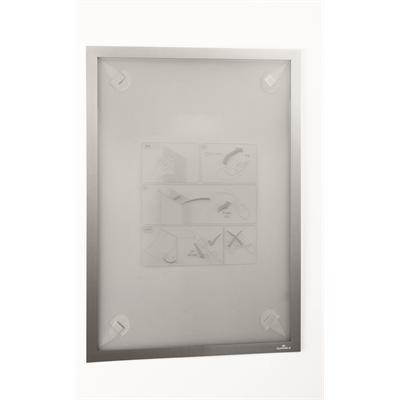 Infotasku / infokehys Duraframe Wallpaper A3 hopea - sopii aremmillekin pinnoille, esim. tapetille