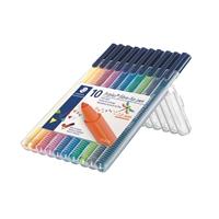 Kuitukärkikynä Staedler Triplus Color 10 väriä