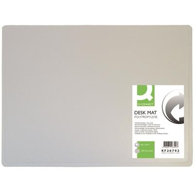Kirjoitusalusta Q-Connect 40X53cm läpinäkyvä