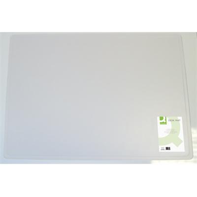 Kirjoitusalusta Q-Connect 50x63cm läpinäkyvä