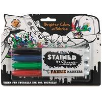 Tekstiilimerkkauskynä Sharpie Fabric Marker 4-väriä