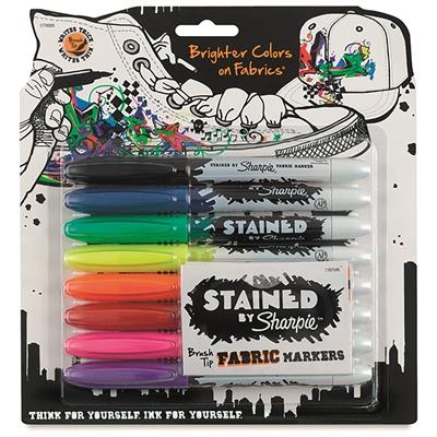 Tekstiilimerkkauskynä Sharpie Fabric Marker 8-väriä