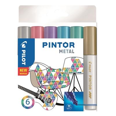 Maalikynä Pilot Pintor metallivärit - pysyväksi tekstiileihin silittämällä, posliiniin uunissa 150°
