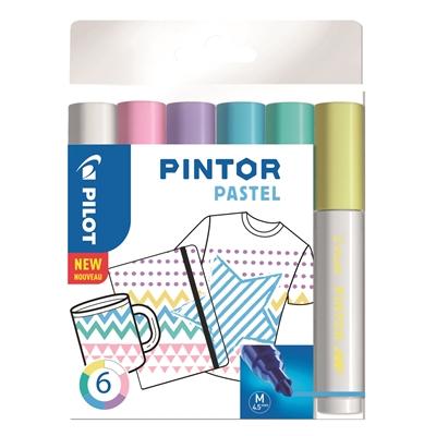 Maalikynä Pilot Pintor pastellivärit - pysyväksi tekstiileihin silittämällä, posliiniin uunissa 150°