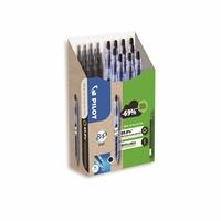 Geelikynä Pilot BeGreen B2P 07 musta/ 10 kynää + 10 säiliötä - kierrätetyistä muovipulloista kynäksi