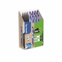 Geelikynä Pilot BeGreen B2P 07 sininen/10 kynää +10 säiliötä - kierrätetyistä muovipulloista kynäksi