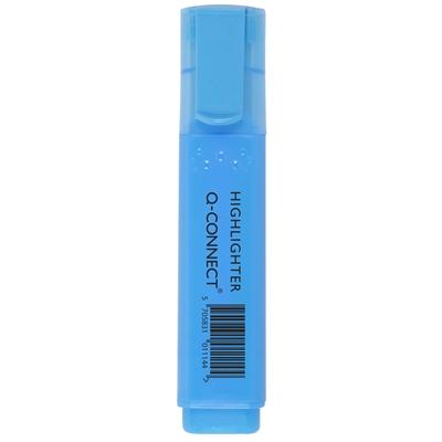 Korostuskynä Q-Connect leveä sininen