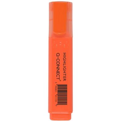 Korostuskynä Q-Connect leveä oranssi