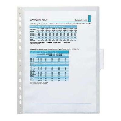 Selailutelineen tasku Durable Function 5607 kirkas/5 kpl