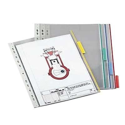 Selailutelineen tasku Durable Function 5607 punainen/5 kpl