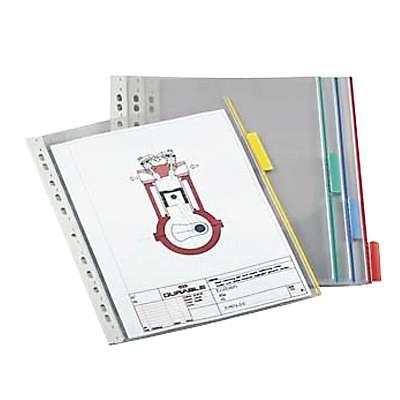 Selailutelineen tasku Durable Function 5607 keltainen/ 5 kpl