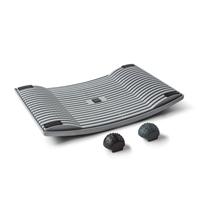 Aktivointilauta Gymba harmaa - helppoa liikuntaa työn tai opiskelun ohessa, mukana hierontapallot