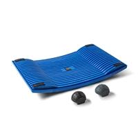 Aktivointilauta Gymba sininen - helppoa liikuntaa työn tai opiskelun ohessa, mukana hierontapallot