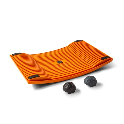 Aktivointilauta Gymba oranssi - helppoa liikuntaa työn tai opiskelun ohessa, mukana hierontapallot