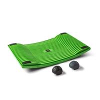 Aktivointilauta Gymba vihreä - helppoa liikuntaa työn tai opiskelun ohessa, mukana hierontapallot