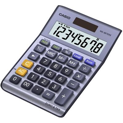 Pöytälaskin Casio MS-88 TER II euro/vero