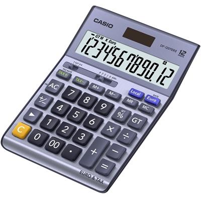 Pöytälaskin Casio DF-120 TER II euro/vero