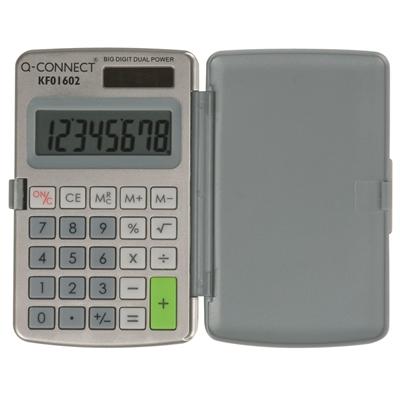 Nelilaskin Q-Connect 8-numero lompakko KF01602