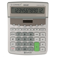 Pöytälaskin Q-Connect 12-numero euro iso KF01607